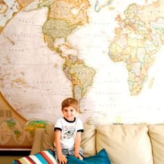 I want a map that big in my living room one day:)