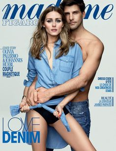 Olivia Palermo & Johannes Huebl for Madame Figaro France May 29, 2015 Cover, shoot by Benoit Peverelli