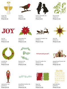 New holiday dies by Lifestyle Crafts! Compatible with Epic 6 and lead die-cutting machines.  Excellent shapes for holiday cards, scrapbook layouts, and crafts! #christmas #holiday