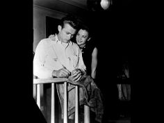 """James Dean and Natalie Wood on the set of """"Rebel Without a Cause"""" [1955]"""