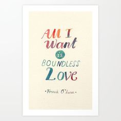 All I Want Is Boundless Love by Mei Lee word art print poster black white motivational quote inspirational words of wisdom motivationmonday Scandinavian fashionista fitness inspiration motivation typography home decor