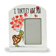 I turtley love you! bisque decorated with Mayco colours Pottery Painting, Ceramic Painting, Painted Ceramics, Valentines Frames, Fingerprint Heart, Pottery Supplies, Paint Your Own Pottery, Ceramic Bisque, Heart Frame