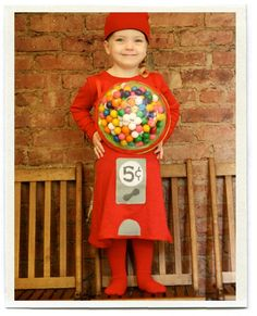 Old-Fashioned Bubble Gum Machine Costume!  Clever!!!