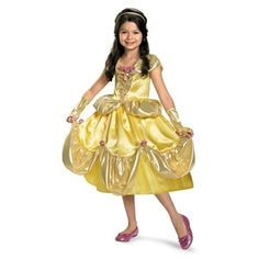 Deluxe Beauty and the Beast Belle Shimmer Toddler / Kids Costume @ officialprincesscostumes.com
