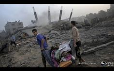 (Hatem Omar / Maan Images) ABC News tells viewers that scenes of destruction in Gaza are in Israel Elie Wiesel, Sick, Diane Sawyer, Ending Story, Gaza Strip, Israel Palestine, People Videos, International News, Festival International