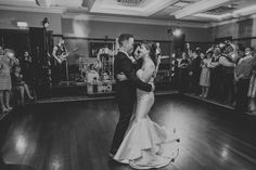 A black and white photo can have an incredible impact such as this one by photographer Shane Turner at the wedding of Leah and Jason. A magical moment where the couple are surrounded by their family and friends Wedding Suits, Our Wedding, Wedding Venues, Civil Ceremony, Industrial Wedding, Wedding Wishes, First Dance, Getting Married, Real Weddings