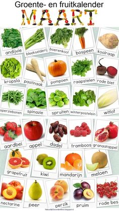 Groente- en fruitkalender maart