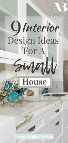 Small House Decorating//Small House Ideas//Small House Under 100 Sq Ft//Small House Interior//Small House Cottage//Small House Living//Interior Design Ideas For A Small House (Tiny House Ideas) curated by Joy Bender Real Estate Agent Compass San Diego REALTOR®️ #smallhouse #smallkitchen #smallbathrooms