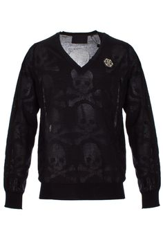 Original pullover with the iconic skull with bones print all over it Wear this piece with jeans and sneakers to get a stylish look. Browse the complete Philipp Plein collection online at Boudi UK. Philipp Plein is pure luxury with his latest Menswear Collection embodying the designers rebel streak, and glamorous ideals making thePhilipp Plein brand instantly recognisable.  FW14-HM311398