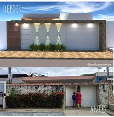 La imagen puede contener: casa y exterior Gate Design, House Design, Front Wall Design, Compound Wall Design, Property Design, Exterior Makeover, Facade Architecture, Facade House, Modern Exterior