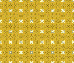 Formal Dining  Fine Curves gold fabric by kayajoy on Spoonflower - custom fabric