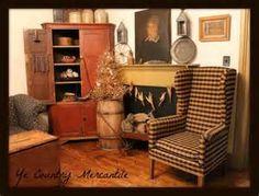 My Living room!! | Primitive Christmas | Pinterest