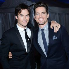 Ian Somerhalder poses with White Collar's Matt Bomer at a People's Choice Awards after party.