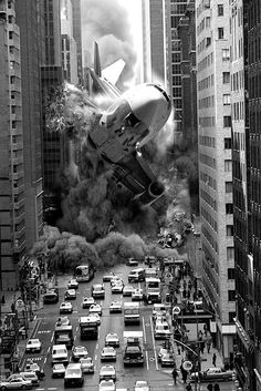 Steve McGhee from Ontario creates apocalyptic images that cover every way possible to world might end from biblical style flooding to massive earthquakes and black holes. Black White Photos, Black And White Photography, Montage Photo, Photocollage, End Of The World, Photo Manipulation, Belle Photo, Old Photos, Scary
