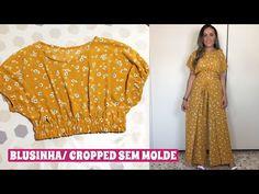 DIY PARTE 1: BLUSINHA / CROPRED (SEM MOLDE) - YouTube