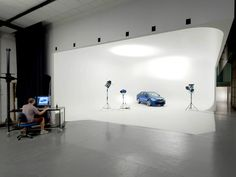 #COMMUNE Studio's full egg #cyclorama photography studio. Perfect for #car and #vehicle photography.