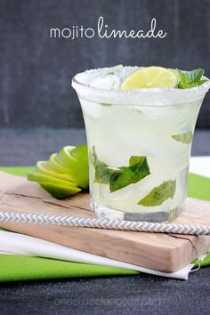 The perfect summer drink (for adults)- Mojito Limeade from One Sweet Appetite