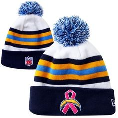 New Era San Diego Chargers 2013 Breast Cancer Awareness Sport Knit Beanie -  Navy Blue  5bf1cad057a2