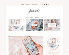 Feminine Blog + Shop Theme - Jasmine ~ WordPress Blog Themes ~ Creative Market