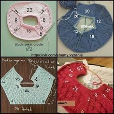 Raglan from above (Calculation of loops) - Knitting for children - the Country of chates no leídos Baby Boy Knitting Patterns, Baby Patterns, Diy Crafts Crochet, Knitted Baby Cardigan, Knit Baby Dress, Baby Kind, Garter Stitch, Baby Sweaters, Crochet Baby