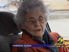 Elderly woman witnesses to man trying to rob her. Go to: http://faithsmessenger.com/testimonies/?pg=11