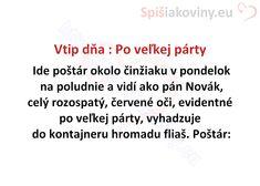 Vtip dňa : Po veľkej párty - Spišiakoviny.eu