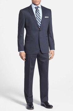 Boss Hugo Boss | BOSS HUGO BOSS 'Jam/Sharp' Trim Fit Stripe Suit #boshugoboss #striped #suit