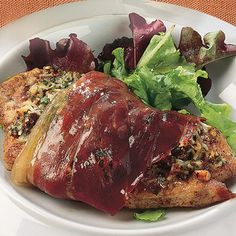 Pork Cutlets With Pine Nuts And Prosciutto