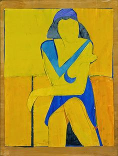 Richard Diebenkorn (1922-1993), Untitled (Yellow Collage), 1966; Cut-and-pasted paper, gouache, and ink on paper, 28 ¾ x 22 in. (73 x 55.9 cm); The Grant Family Collection © 2013 The Richard Diebenkorn Foundation.