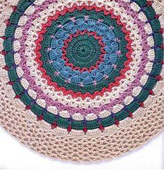 Haafner Linssen Mandalas to Crochet 34 — Yandex. Mandala Au Crochet, Crochet Mat, Crochet Dollies, Crochet Borders, Crochet Patterns, Vegas Fun, Patch, Doilies, Garland