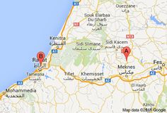 Morocco archaeology map