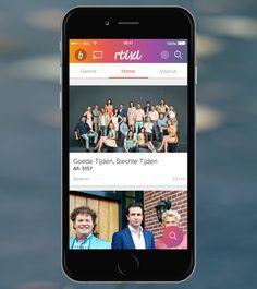 RTL XL - app screen. App ontwikkeling: Triple IT Merkstijl: strategisch design bureau Wunder.