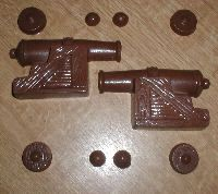 Pirate Cannon 3D Assembly Chocolate Mold