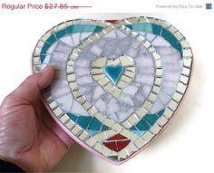 On sale Valentine Heart Wall Hanging Mosaic Art by MosaicMargalita, $25.07