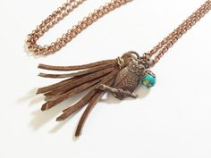Owl Tassel Necklace by MallEadornments on Etsy