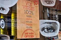 Agence 100% pour LUZ optique - Programme de Théâtralisation vitrines mensuel pour opticiens indépendants