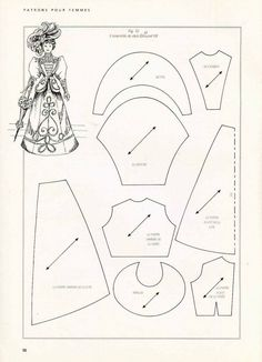Doll Dress Patterns on Pinterest | Doll Clothes Patterns, Clothes ...