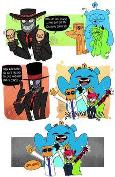 Villainous - Grunkle Black Hat by FloatingMegane-san Cartoon Gifs, Cartoon Shows, Cartoon Network, Dr Flug, Hat Organization, Villainous Cartoon, Fanart, Anime, Funny Comics