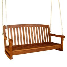 I pinned this Outdoor Balau Wooden Swing from the Backyard Living event at Joss and Main! I have this one on the front porch at our cabin.