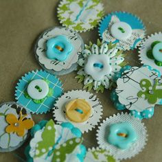 sets of matching embellishments/card candy