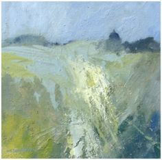 A Glimpse of Giggleswick 47x47 0il on canvas board Norma Stephenson