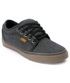 The original Vans Chukka Low is being reinvented with customized colorways and materials. This Zumiez Exclusive from Vans has all of the classic Chukka Low skate shoe features packaged in a slick black denim chambray canvas upper with leather accents and