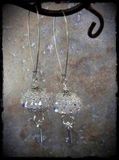 Glittery Key Handmade Earrings -Everyday Earrings