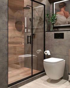 Washroom Design, Toilet Design, Bathroom Design Luxury, Bathroom Layout, Modern Bathroom Design, Modern Small Bathrooms, Bathroom Small, White Bathroom, Bathroom Ideas