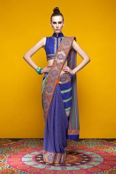 Indian by Manish Arora Bridal Couture Choli Designs, Saree Blouse Designs, Sari Blouse, Indian Attire, Indian Wear, India Fashion, Asian Fashion, Indian Dresses, Indian Outfits