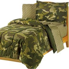 My Room Geo Camo Bed in a Bag...Bought for my boys ages 8 and 12. I have been pleased so far. They have held up through the wash also.