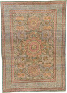 For living room - Blue 9' 10 x 13' 10 Mamluk Ziegler Oriental Rug   Oriental Rugs   eSaleRugs