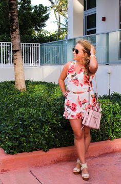 My Life As Lauren : Floral Romper in Miami