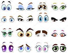 Baixar - Olhos de desenho animado — Ilustração de Stock #3718179