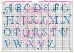 Apaixonada por Ponto Cruz: Alfabetos